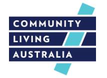 Community Living Australia Logo